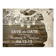 rustic save the dates jar save the date postcards zazzle