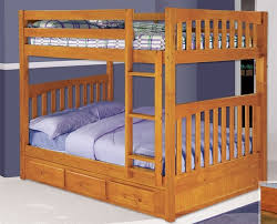 Solid Wood Full Over Full Bunk Beds Spacesaving FullSize Bunk - Full over full bunk bed