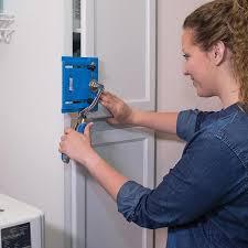kitchen cabinet door hardware jig kreg cabinet hardware jig