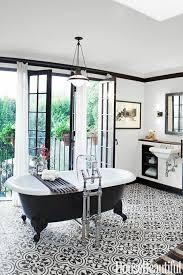 patterned tile bathroom house beautiful black and white patterned tile floor tile