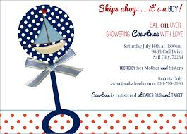 nautical baby shower invitations ships ahoy nautical baby shower invitations sail boats and baby