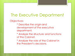 The Cabinet In Government Chapter 15 Government At Work The Bureaucracy Section 3 The