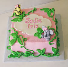 jungle baby shower cakes pink jungle baby shower cake bakes