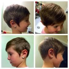 kids toddler short pixie haircut girls asymmetrical hair cut