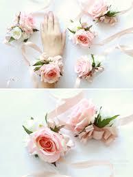 bridesmaid corsage blush pink wrist corsage bridesmaid corsage pearl