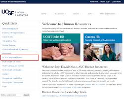Human Resources Representative Navigating The Campus Hr Forms Page University Of California San