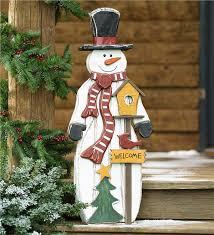 wooden snowman rustic wooden snowman welcome accent decorative garden accents