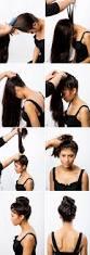 upside down french braid bun hair tutorial