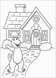 barney house coloring