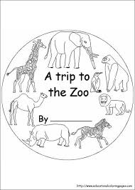 zoo coloring pages free kids