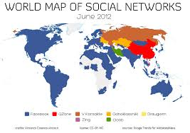 which social networking are popular in different countries