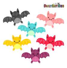 halloween cute bats clip art set daily art hub