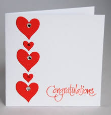 Congratulations On Engagement Card A Stylish Handmade Engagement Card Handmade By Helen