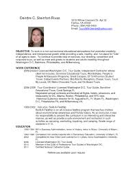 Resume Samples Young Adults by Tour Guide Resume Resume Cv Cover Letter Guide Resume With