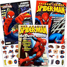 amazon marvel spiderman coloring book stickers