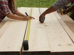 How To Make A Table Out Of Pallets How To Build A Reclaimed Wood Office Desk How Tos Diy