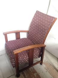 stylish 1920 u0027s 1930 u0027s vintage oak recliner chair good condition