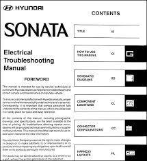 2003 hyundai sonata specs 2003 hyundai sonata electrical troubleshooting manual original