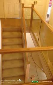 Glass Banisters Cost Oak Rails With Glass Balustrade Clamped With Stainless Steel