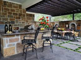 Outdoor Kitchen Plans Backyard Covered Patio With Bar Building An Outdoor Kitchen