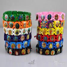 catholic bracelets mix colors catholic wooden rosary bracelet holy icon jesus