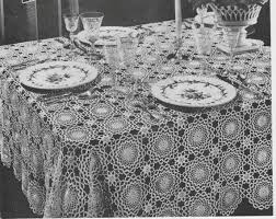 free crochet patterns for home decor 397 vintage 1940 s tablecloth crochet pattern retro home decor