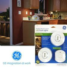 Battery Powered Under Cabinet Lighting Reviews by Ge Wireless Remote Control Led Puck Lights Under Cabinet Lighting