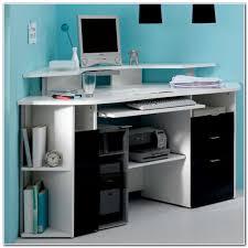 amazing bestar hampton corner computer desk tuscany brown u0026 black
