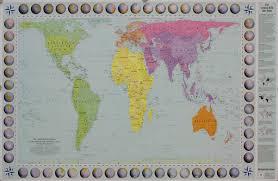 Upside Down World Map Craenen Huber Kartographie General Maps