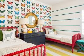 Bedroom Designs For Teenagers With 3 Beds Design Reveal Butterfly Shared Girls Room Project Nursery