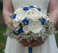 blue wedding bouquets cobalt blue wedding bouquet royal blue sola bouquet