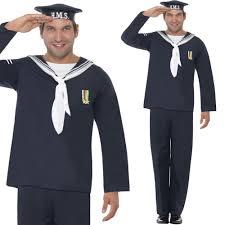 Army Halloween Costumes Mens Mens 1940s Navy Fancy Dress Costume War 2 Naval Uniform