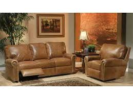 Brown Leather Recliner Sofa Set Sofas Center Leather Reclining Sofa Set With Nailhead Trim Sofas