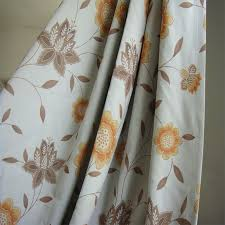 Peach Floral Curtains Good Eco Friendly Brown And Orange Floral Curtains