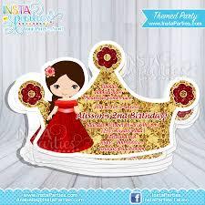 Princess Birthday Invitation Card Elena Of Avalor Invitations Party Princesses Elena Cut Out