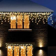 960 warm white led snowing icicle lights