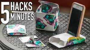 5 playing card hacks in 5 minutes diy life hacks youtube