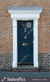 georgian house architectural details georgian house front door stock picture