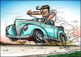 cartoon convertible car toon up the automotive art of mark ervin hemmings daily