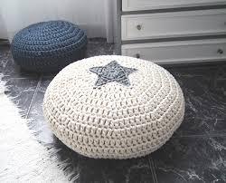 knit home decor living room interesting black round knit pouf ottoman high