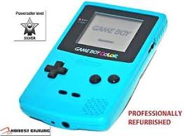 New Glass Screen Teal Blue Nintendo Game Boy Color Cgb 001 Gameboy Color