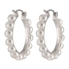 pearl hoop earrings pearls women s sterling silver freshwater pearl hoop