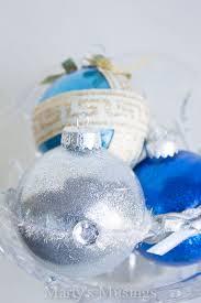 mess handmade glitter ornaments