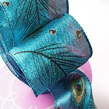 peacock ribbon animal print ribbon shop paper mart s selection
