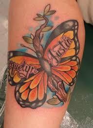 secret lake tattoos nature butterfly