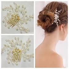 bridal hair combs treazy bridal wedding imitation pearl flower hair