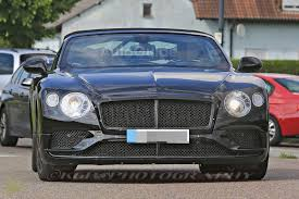 bentley convertible blue 2019 bentley continental gtc spied testing with sporty styling