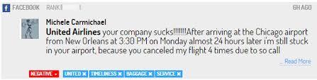 united airlines media baggage social media monitoring facebook united airlines digimind blog