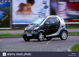 mercedes mini car mercedes smart coupe mini cars model year 2002 stock photo