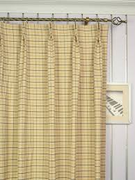 extra wide hudson small plaid double pinch pleat curtains 100 inch